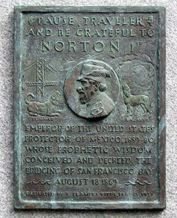 Emperor Norton plaque