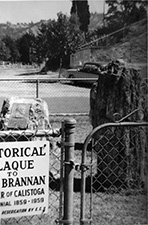 Brannan plaque in 1959