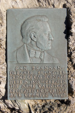 The Brannan plaque