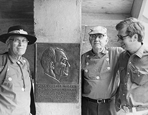 Camp plaque dedication 1973