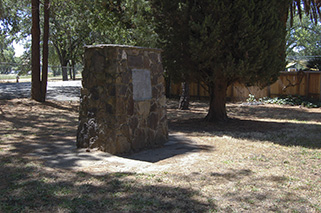 The Markham/Solano County pioneers plaque and monument