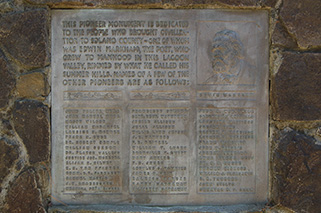 The Markham/Solano County pioneers plaque