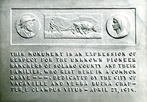 Unknown pioneers plaque