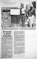 Article about the tanker pilots plaque dedication