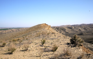 Westernmost ridge of the Kettleman Hills