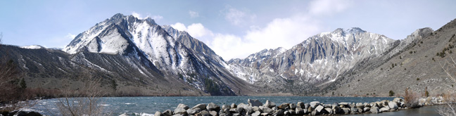 Convict Lake and the glacially carved valley beyond