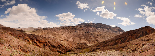 A panoramic view from within Echo Canyon
