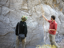 Seth would point out clues to the origins of the Echo Canyon rocks