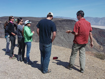 Seth explains the geology of the Panamint Valley