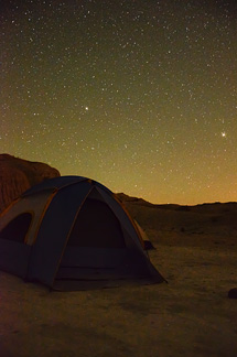 Another time-exposure photo of the stars above our campsite