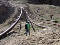 Negotiating pipes on the way to the first locality