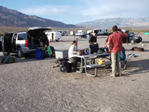 The morning following our windy night at Stovepipe Wells campground