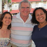 Camilla Souto with David Pawson and Luciana Martins at the NAEC meeting in Florida