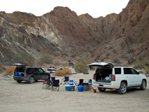 Our camp in Painted Canyon