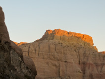 Late afternoon sun in Painted Canyon