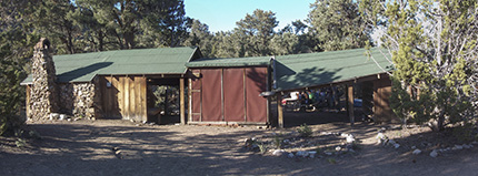 The cabin that Charles Camp built at Berlin-Ichtyosaur State Park.