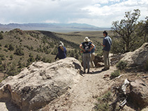 Enjoying the view at Hickison Petroglyph Recreation Area.