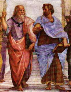 Plato (left) and Aristotle (right)