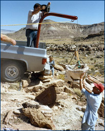 Karl in the Jurassic Morrison Formation, Colorado, 1986