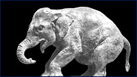 Huff's baby mammoth sculpture