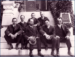 The Department of Paleontology faculty in 1915