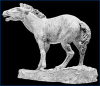 Huff's sculpture of Pliohippus