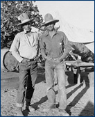 A yound Sam Welles (right) with another field worker, probably in Arizona
