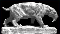 Huff's sabertoothed cat sculpture