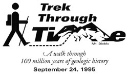 Trek Through Time logo and shirt design, 1995