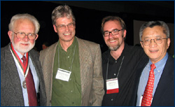 Bill with Nick Fraser, Dave Polly, and Xhe-Xi Luo