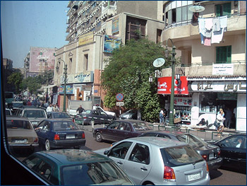 Gridlock in downtown Cairo