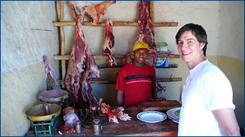 Raw meat is standard fare in Ethiopia