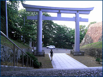 An entrance gate to Sendai Castle