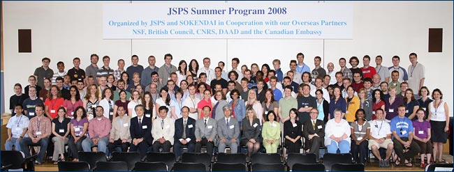A group photo of this year's JSPS fellows