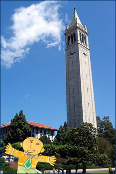Another Flat Stanley at the Campanile