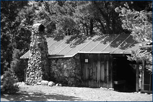 The cabin used by Charles Camp and Sam Welles near Berlin, Nevada