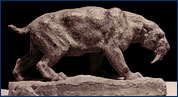 Smilodon sculpture by William Gordon Huff