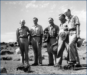 Joe and other paleontologists on a 1947 field trip
