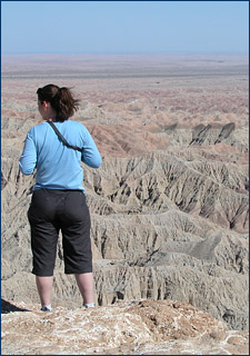 Katie Brakora admires the badlands of Anza-Borrego Desert State Park