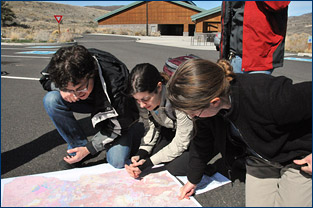 Checking out the geological map of the John Day Fossil Beds before heading out to look for fossils