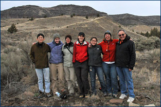 UCMP group at Hatch's Gulch in the John Day Fossil Beds