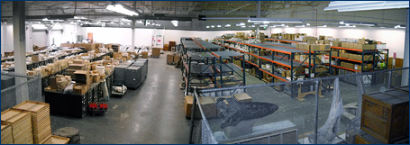 A panoramic view of the new UCMP collections storage space in the Regatta Building