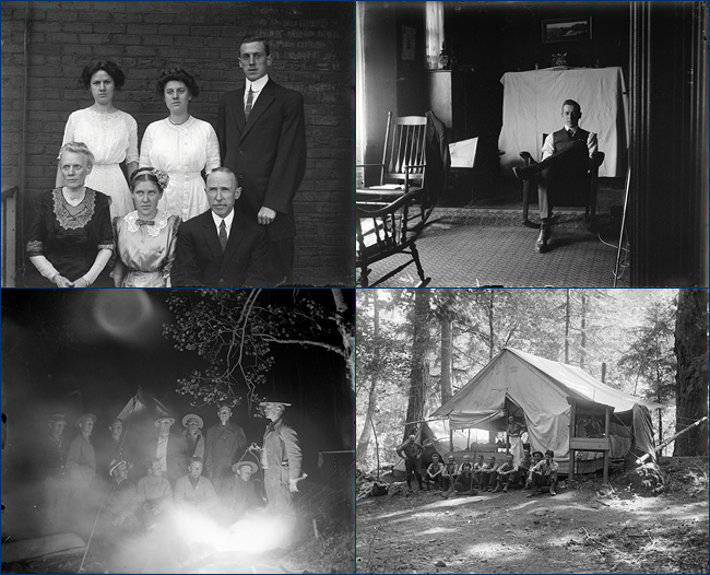 Chaney glass negatives