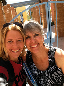 Judy and Sheri Potter at Biosphere 2