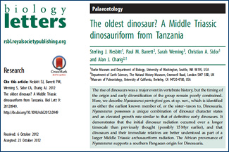 Biology Letters article