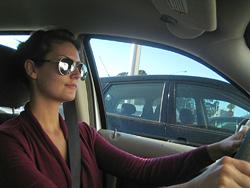 Jessie driving