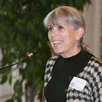 Judy at podium