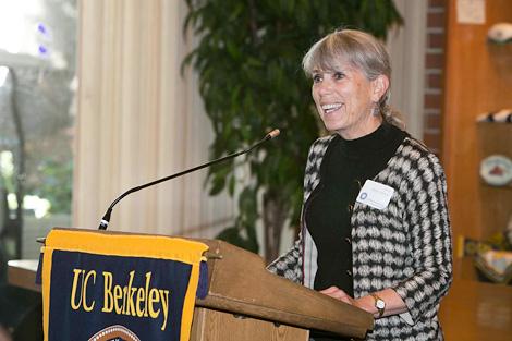 Judy at the podium