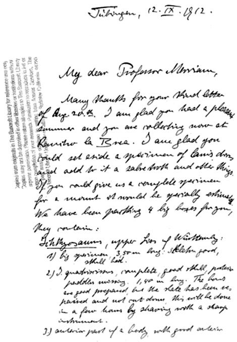 von Huene letter