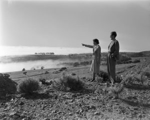Mrs. Charles Camp and her son, Charles Camp Jr., in South Africa (1947-48). Photo by Tesla Monson